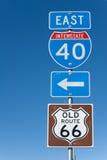 Sinal I-40 de um estado a outro Fotografia de Stock