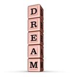 Sinal ideal da palavra Pilha vertical de Rose Gold Metallic Toy Blocks Imagens de Stock Royalty Free