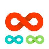 Sinal ilimitado do laço da infinidade, logotipo, ilustração do vetor Fotografia de Stock
