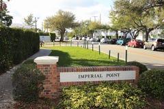 Sinal imperial da entrada da vizinhança do ponto Foto de Stock Royalty Free