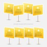 Sinal Infographic da placa Imagem de Stock Royalty Free