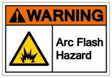 Sinal instantâneo de advertência do símbolo do perigo do arco, ilustração do vetor, isolado na etiqueta branca do fundo EPS10 ilustração royalty free