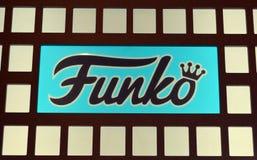 Sinal interior da loja de Funko Fotografia de Stock Royalty Free