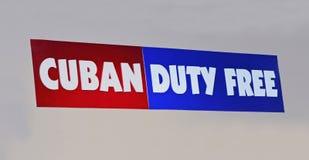 Sinal isento de direitos aduaneiros cubano Imagem de Stock