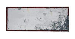 Sinal isolado e em branco Fotografia de Stock