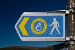 Sinal litoral do trajeto de Gales fotos de stock