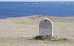 Sinal litoral do trajeto no promontório da conta de portland Imagens de Stock