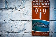 Sinal livre da informação da zona do Internet Imagem de Stock