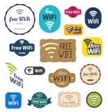 Sinal livre de Wifi Imagem de Stock