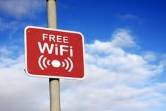 Sinal livre de Wifi Imagem de Stock Royalty Free