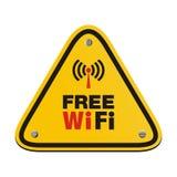 Sinal livre do triângulo do wifi Imagem de Stock Royalty Free