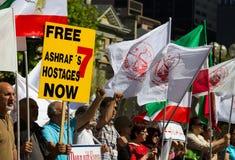 Sinal livre dos reféns de Ashrafs Fotos de Stock