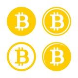 Sinal Logo Set de Bitcoin Fotografia de Stock