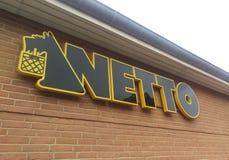 Sinal/logotipo de Netto Foto de Stock