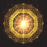 Sinal mágico da geometria Geometria sagrado abstrata Fotos de Stock
