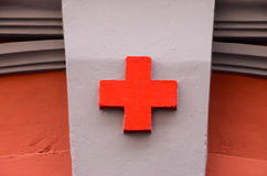 Sinal médico da cruz vermelha Imagens de Stock Royalty Free