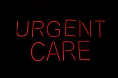 Sinal médico do cuidado urgente imagens de stock royalty free