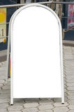 Sinal móvel do pavimento. Fotos de Stock