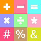 Sinal matemático básico Foto de Stock