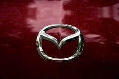 Sinal Mazda do carro fotografia de stock