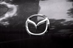 Sinal Mazda do carro Foto de Stock Royalty Free