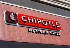 Sinal mexicano da grade de Chipolte Foto de Stock Royalty Free