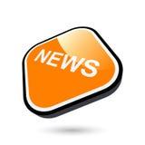 Sinal moderno da notícia Foto de Stock