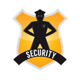 Sinal moderno da segurança Imagens de Stock