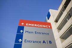Sinal moderno do hospital e da emergência Fotografia de Stock Royalty Free