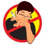 Sinal não fumadores Fotografia de Stock Royalty Free