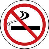 Sinal não fumadores Fotos de Stock