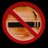 Sinal não fumadores de madeira Imagens de Stock