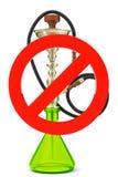 Sinal não fumadores do cachimbo de água Fotografia de Stock