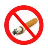 Sinal não fumadores do fumo de .do não (naturalistic) Fotografia de Stock Royalty Free