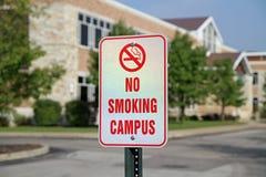 Sinal não fumadores do terreno imagem de stock