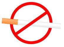 Sinal não fumadores. Ilustração ilustração stock