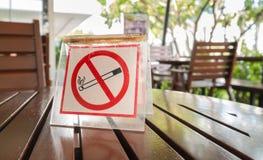 Sinal não fumadores indicado Foto de Stock