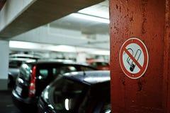 Sinal não fumadores na parede Foto de Stock Royalty Free