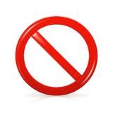 Sinal não permitido Imagens de Stock