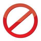 Sinal não permitido Imagens de Stock Royalty Free