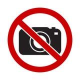 Sinal não permitido da câmera ilustração do vetor