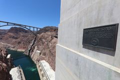 Sinal na barragem Hoover nevada EUA Imagem de Stock
