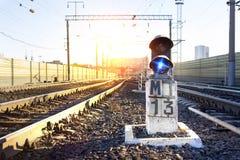 Sinal na estação de trem fotos de stock royalty free
