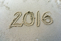 Sinal na praia Imagem de Stock