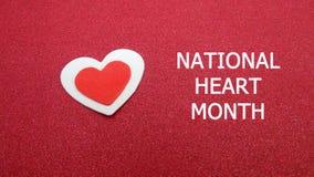 Sinal nacional do mês do coração foto de stock royalty free