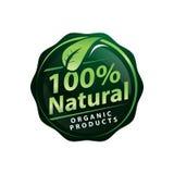 Sinal natural de 100% Fotografia de Stock