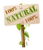 Sinal natural e bio verde fotos de stock royalty free