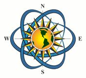 Sinal navegacional do compasso ilustração do vetor