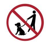 Sinal - nenhum passeio do cão Imagem de Stock