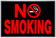 Sinal não fumadores Imagem de Stock
